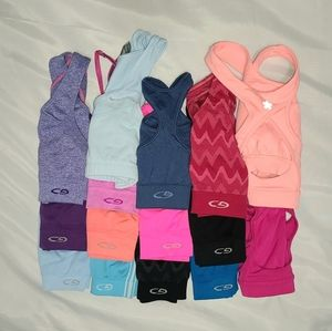 15 womens sz S RE SELLERS LOT sports bra bundle